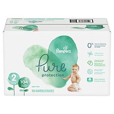 Diapers Size 104 Count - Pampers Pure Disposable Baby Diapers, Hypoallergenic and Fragrance Free Protection, Giant Honest Diapers, Sport Sunscreen, Natural Rubber Latex, Newborn Diapers, Diaper Sizes, Disposable Diapers, Baby Must Haves, Carters Baby Boys, Baby Skin
