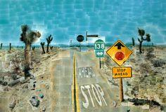 David Hockney,Pearblossom Highway.