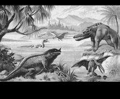 Jurassic  by unknown  from Liebig Card  1892 Germany