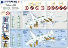 air france airbus a380 safety card
