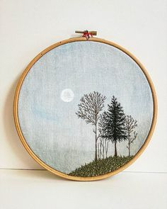 Grand Sewing Embroidery Designs At Home Ideas. Beauteous Finished Sewing Embroidery Designs At Home Ideas. Embroidery Hoop Decor, Hand Embroidery Stitches, Embroidery Fashion, Hand Embroidery Designs, Embroidery Art, Cross Stitch Embroidery, Embroidery Jewelry, Knitting Stitches, Machine Embroidery
