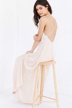 CXM Open Back Maxi Slip Dress