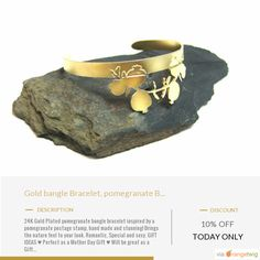 Today Only! 10% OFF this item.  Follow us on Pinterest to be the first to see our exciting Daily Deals. Today's Product: Daily Sale Gold bangle Bracelet, pomegranate Bracelet, Cuff bracelet, Nature jewelry, Handmade, pomegranate jewelry, Sexy bangle, Greek jewe Buy now: https://www.etsy.com/listing/273075824?utm_source=Pinterest&utm_medium=Orangetwig_Marketing&utm_campaign=daily%20deal%202   #etsy #etsyseller #etsyshop #etsylove #etsyfinds #etsygifts #musthave #loveit #instacool #shop…