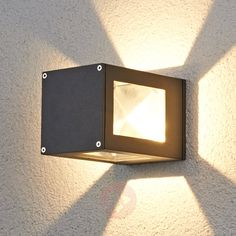 Graphite grey LED outdoor wall light Danilo IP54-Outdoor Wall Lights-9618019-30