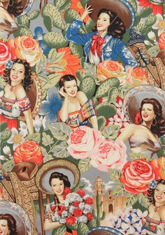 Las Senoritas Antique fabric.  Would like a pillow of this