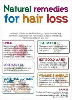 Natural remedies for hair loss!