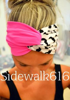 Pink Mustache Head-wrap Turban Headband