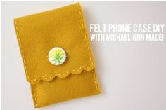 Sweet Scalloped Phone case Tutorial: Handstitched felt phone case · Sewing | CraftGossip.com