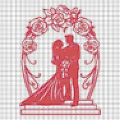 Cross Stitch Family, Monochrom, Cross Stitch Patterns, Wedding Stuff, Marriage, Weddings, Roses, Punto De Cruz, Dots