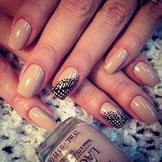 """Nude & Black Lace Nails (Camila Coelho's nails) OPI Nail Polish in """"Don't Pretzel my Buttons"""" #Instagram"""