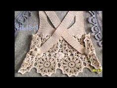 Top gehäkelt / crochet top back … Crochet Summer Tops, Crochet Crop Top, Crochet Blouse, Crochet Bikini, Gilet Crochet, Crochet Baby, Knit Crochet, Crochet Skirts, Crochet Clothes