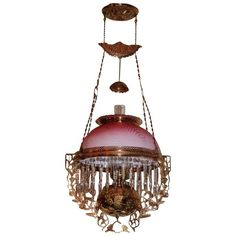 bradley+&+hubbard+lamps | Wonderful Bradley & Hubbard Hanging Library Kerosene Lamp ~ VERY RARE ...