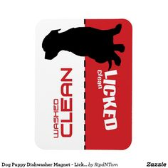 Dog Puppy Dishwasher Magnet - Licked Clean Follow the link to see this product on Zazzle! @zazzle #dog #dogs #dogstuff #dogpin #pet #pets #animals #animal #fun #buy #shop #shopping #sale #dogowner #dogmom #dogdad #dogperson #dogpeople #kitchen #homedecor #magnets #magnet #refridgerator #funny #lol