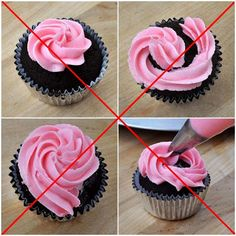 How to make frosting swirl on cupcake. How to frost cupcakes easily. Easy way to ice a cupcake. How do I top a cupcake?
