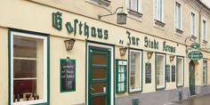 Zur Stadt Krems, sehr gute Wiener Küche, mit hauseigener Kegelbahn 😄Zieglergasse 37, 1070 Wien Shops, Restaurants, Gallery Wall, Decor, City, Decorating, Tents, Decoration, Restaurant