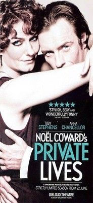 Private Lives (London, 2013) - Anna Chancellor & Toby Stephens - Damn I want to see this!