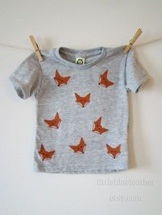 SALE Fox Screen Printed Eco Friendly by LittleBlueFeathers