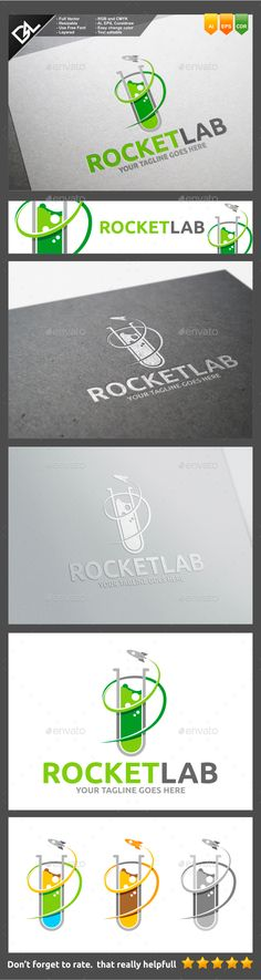 Rocket Lab - Objects Logo Templates