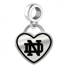 University of Notre Dame Fighting Irish Heart Stud Earring See Image on Model for Size Reference