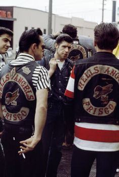 """HA Frisco - in the early days. When Sonny Barger's chapter in Oakland started using the larger flying skull logo, it was called """"Larger Barger"""" hahaha."""
