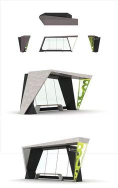 Environmental Design - Bus Stop Urban Furniture, Street Furniture, Furniture Nyc, Cheap Furniture, Discount Furniture, Furniture Design, Urban Architecture, Concept Architecture, Architectes Zaha Hadid