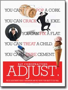 Chiropractic Adjust Poster | Pop Crack Fix Chiropractic Adjustment