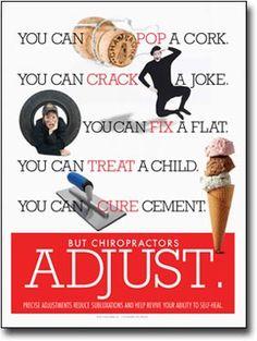 Chiropractic Adjust Poster | Pop Crack Fix Chiropractic Adjustment