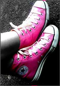 pink summer, bright pink, style, pink chuck, converse, pink convers, pink pink, pink shoes, chuck taylor