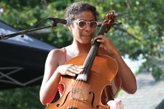 Leyla McCalla - The Carolina Chocolate Drops at SummerStage 2012