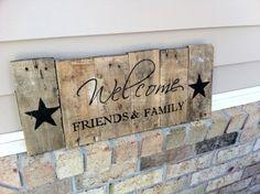 décoration-panneau-palette-bois-inscription-bienvenus