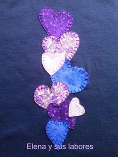 Camiseta de manga larga para mujer con aplicación de patchwork. Camiseta de patchwork, aplicada a mano. Hand made at elenaysuslabores.blogspot.com.es