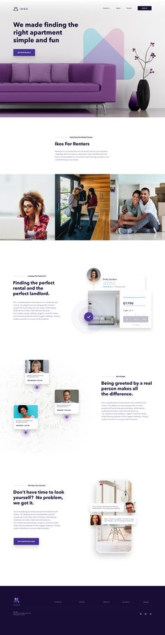 Marketing Site - Renters Page – Inspire Design Web Design Tips, Best Web Design, Clean Design, Design Ideas, Real Estate Website Design, Website Designs, Interactive Web Design, Web Company, Company Profile Design