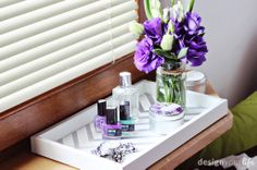 DIY taca drewniana // DIY spray painted tray // DesignYourLife.pl
