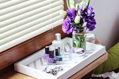 DIY taca drewniana // DIY spray painted tray // DesignYourLife.pl