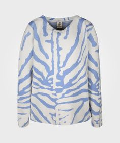 Striped Knit Offwhite/Light Blue