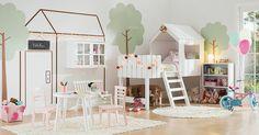 Abuse da criatividade e crie um espaço encantador para as meninas.
