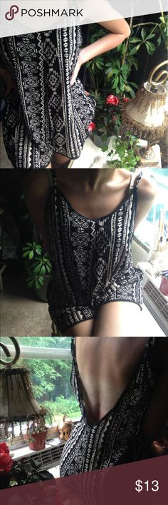 NWOT | Wet Seal | Tribal Black and Tan Romper | S Beautiful pattern. Bought it new only to find it to big for me. Tag says size Small, but it's more like a loose Medium. New without tags. Thank you for looking! Wet Seal Other