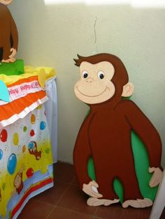 Curious George Birthday, Ronald Mcdonald, Dinosaur Stuffed Animal, Toys, Party, Animals, Fictional Characters, Image, Activity Toys