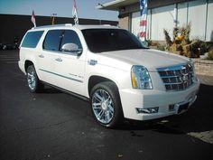 White Diamond 2008 Cadillac Escalade