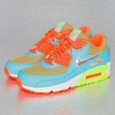 Nike Air Max 90 Kids Sneakers Gamma Blue/Metallic Silver/Total Orange/Wolf Grey