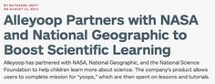 Alleyoop Partners with NASA and National Geographic to Boost Scientific Learning www.pandodaily.com