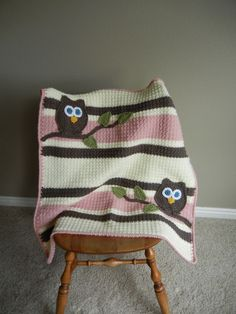 Owl Baby Blanket Girl