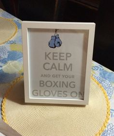 Boxing Baby Shower Theme Keep Calm Boxing Print 8x10
