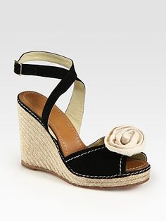 e4f31359c656 Kate Spade New York - Brit Suede Rosette Espadrille Wedge Sandals