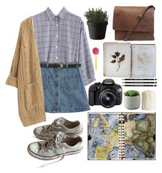 """""""HER."""" by nevermind90 ❤ liked on Polyvore featuring Chicnova Fashion, Converse, Muuto, FOSSIL and Eos"""