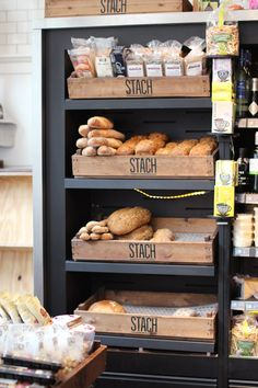 Bread and other delicious stuff deco cafe, boulangerie patisserie, bakery design, restaurant design Bakery Store, Bakery Cafe, Café Restaurant, Restaurant Design, Bakery Design, Cafe Design, Deco Cafe, Bread Display, Amsterdam Food
