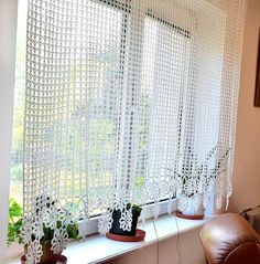 Vorhang gehäkelte Gardine häkeln Vorhang von Katescrochetwork