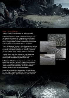 Approach on texturing the beach elements in Ryse  Ryse Art Dump - Page 6 - Polycount Forum
