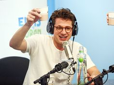 Star Tracks: Thursday, April 7, 2016   CHEERS TO YOU   Singer Charlie Puth raises a glass – er, paper cup – during a visit to The Elvis Duran Z100 Morning Show in New York on Wednesday.