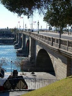 London Bridge, deconstructed in London, reconstructed and now resides in Lake Havasu, Arizona.